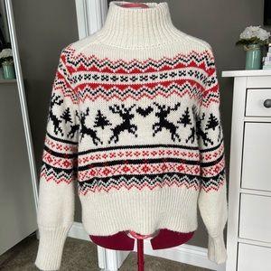 ❄️ Mock Neck Oversized Knit Sweater